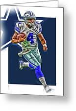 Dak Prescott Dallas Cowboys Oil Art Series 3 Greeting Card