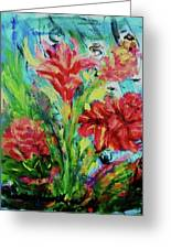 Dala Flower The Flower Of The Ampawa River Maket Greeting Card