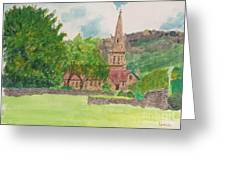 Edale Church And Beautiful Landscape Greeting Card