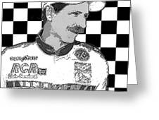 Dale Earnhardt Sr Greeting Card by William Havle