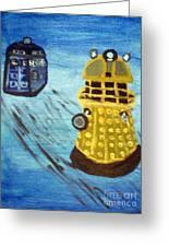 Dalek On Blue Greeting Card