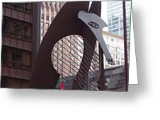 Daley Plaza Picasso Greeting Card