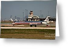 Dallas Airport And Skyline Greeting Card