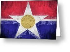 Dallas City Flag Greeting Card