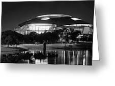 Dallas Cowboys Stadium Bw 032115 Greeting Card