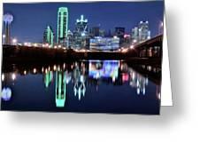 Dallas Dark Blue Night Greeting Card