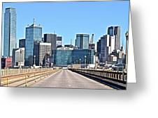 Dallas In The Rear View Greeting Card