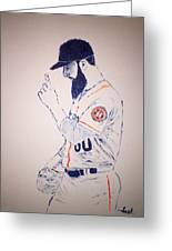 Dallas Keuchel Give Thanks Greeting Card