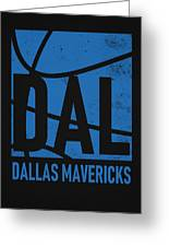 Dallas Mavericks City Poster Art Greeting Card