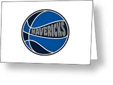 Dallas Mavericks Retro Shirt Greeting Card