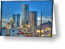 Dallas Morning Skyline Greeting Card