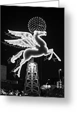 Dallas Pegasus Bw 121517 Greeting Card