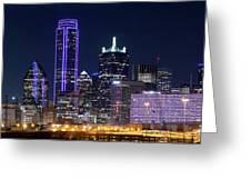 Dallas Purple Night 71417 Greeting Card