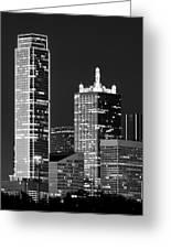 Dallas Shapes Monochrome Greeting Card