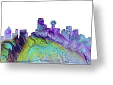 Dallas Skyline 4 Greeting Card