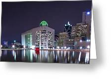 Dallas Skyline From City Hall Greeting Card