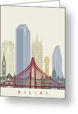 Dallas Skyline Poster Greeting Card