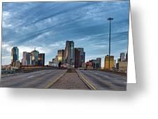 Dallas View At Dusk Greeting Card