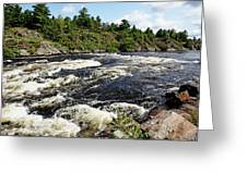 Dalles Rapids French River II Greeting Card