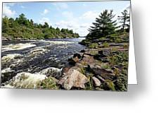 Dalles Rapids French River Iv Greeting Card