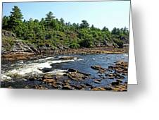 Dalles Rapids French River Ontario Greeting Card