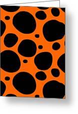 Dalmatian  Black Pattern 03-p0173 Greeting Card