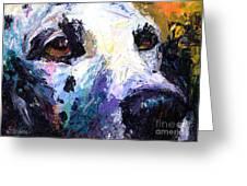 Dalmatian Dog Painting Greeting Card