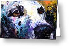 Dalmatian Dog Painting Greeting Card