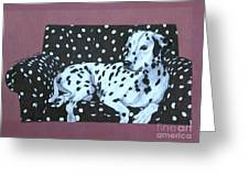 Dalmatian On A Spotted Couch Greeting Card