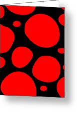 Dalmatian Pattern With A Black Background 02-p0173 Greeting Card