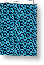 Dalmatian Pattern With A Black Background 18-p0173 Greeting Card