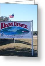 Dam Diner Greeting Card