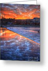 Dam Reflection Greeting Card