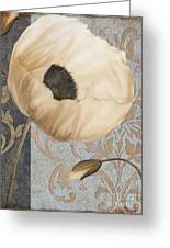 Damask Poppy Greeting Card
