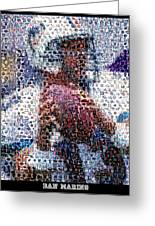 Dan Marino Mosaic Greeting Card