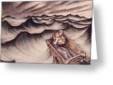Danae And Her Son Perseus Put In A Chest And Cast Into The Sea Greeting Card