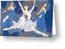 Dance Abstract In The Mix Greeting Card