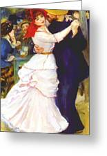 Dance At Bougival 1883 Greeting Card