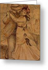 Dance In The Country 1883 Greeting Card
