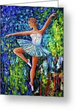 Dance In The Rain Of Color  Greeting Card