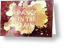 Dance In The Rain Red Version Greeting Card