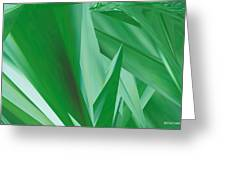 Dance Of Green Leaves Greeting Card