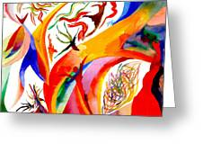 Dance Of Shaman Greeting Card by Peter Shor