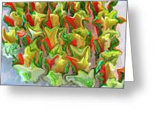 Dance Of The Appetizers Greeting Card