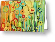 Dance Of The Flower Pods Greeting Card