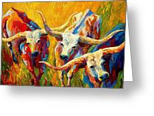 Dance Of The Longhorns Greeting Card