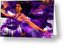 Dance Of The Purple Veil Greeting Card