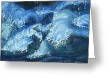 Dance Of The Stormy Sea Greeting Card