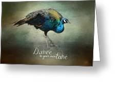 Dance To Your Own Tune - Peacock Art Greeting Card
