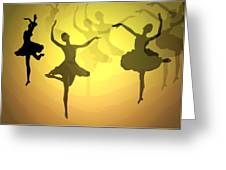 Dance With Us Into The Light Greeting Card